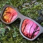 Nebelkind Bamboobastic Holz Sonnenbrille Dunkelbraun verspiegelt